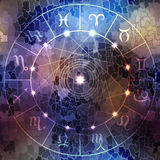 Circle with signs of zodiac Royalty Free Stock Photo