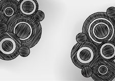 Circle Sketch Pen Shading Effect Background Stock Images