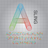 Circle Sling Alphabet and Numbers Vector Royalty Free Stock Photos