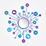Circle Social Media Connection Stock Images