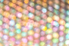 Circle soft colorful Bokeh light abstract background Stock Image