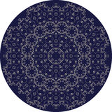 Circle sophisticated symmetric floral pattern in Celts style Stock Photo