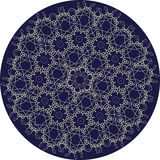 Circle sophisticated symmetric floral pattern in Celts style Royalty Free Stock Image