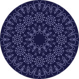 Circle sophisticated symmetric pattern motives of Western Europe Royalty Free Stock Photo