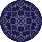 Circle sophisticated symmetric pattern motives of Western Europe Royalty Free Stock Photography