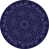 Circle sophisticated symmetric pattern. Ornaments, styles Royalty Free Stock Photography