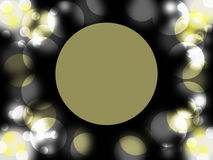 Circle space on dark background royalty free stock photography