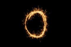 Circle sparkler ring Stock Photo