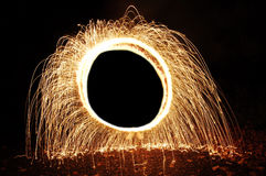 Circle of Sparks. A glowing ring of sparks Royalty Free Stock Photo