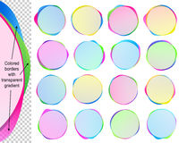 Circle Speech Bubble Text Balloon Blob Banner Sticker Icon Set Royalty Free Stock Photography