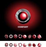 Circle sphere logo icon set Royalty Free Stock Photography