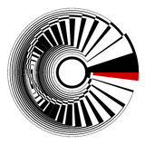 Circle spiral design element. Royalty Free Stock Photography