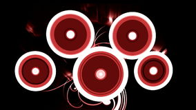 Circle splash background Stock Photo