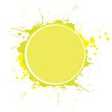 Circle with splashes Stock Image