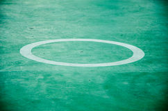 Circle in the sport field Stock Photography