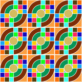Circle and square colorful pattern Stock Photo