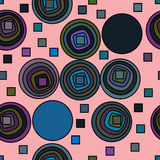 Circle square line seamless pattern stock illustration