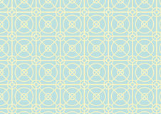 Circle and Square Pattern on Pastel Color Stock Image