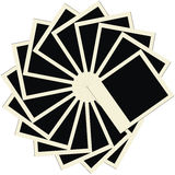 Circle stack of blank polaroid photo frames Royalty Free Stock Image