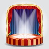 Blue red spots stage Royalty Free Stock Photo