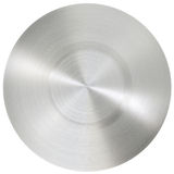Circle stainless steel surface Royalty Free Stock Image