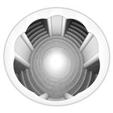 Circle staircase church space interior in top view Stock Images
