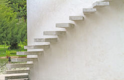Circle of staircase on white wall in the park .Thailand Stock Images