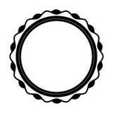 Circle stamp silhouette icon Royalty Free Stock Photos