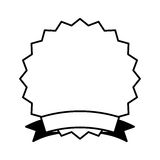 Circle stamp silhouette icon Royalty Free Stock Image