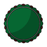 Circle stamp silhouette icon Royalty Free Stock Photography