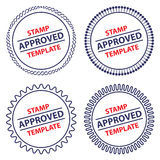 Circle stamp template Royalty Free Stock Images