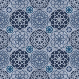 Circle star fabric seamless pattern Stock Images