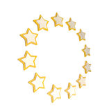 Circle star frame emblem isolated Royalty Free Stock Photography