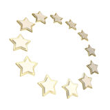 Circle star frame emblem isolated Royalty Free Stock Photos