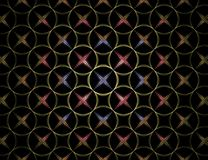 Circle and Star pattern Royalty Free Stock Images