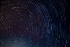 Circle star trail at the north pole star. Stock Images