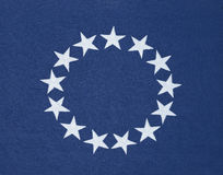 Circle of 13 stars on original American flag Royalty Free Stock Image