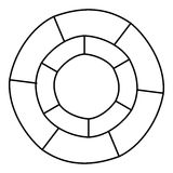 Circle statistics icon, outline style. Circle statistics icon. Outline illustration of circle statistics vector icon for web Royalty Free Stock Photography