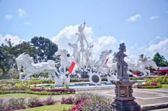 Circle statue monument of Bali, Indonesia Stock Photo
