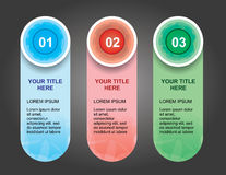 Circle Steps Banners for Website Royalty Free Stock Image