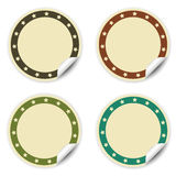 Circle sticker with stars, beige Stock Photos