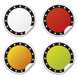 Circle sticker with stars, colors Royalty Free Stock Photo