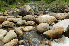 Circle Stone in river. A lot of stone that circle and Rounded arch shape in the river at countryside, Good view, Fresh and be very natural, South of Thailand Stock Photo