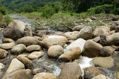 Circle Stone in river. A lot of stone that circle and Rounded arch shape in the river at countryside, Good view, Fresh and be very natural, South of Thailand Stock Photography