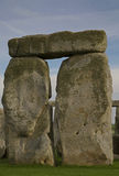 The circle at Stonehenge. Some of the upright stones complete with bridge stone from the ancient Druid stone circle at Stonehenge in the UK royalty free stock image