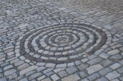 Circle of stones in the streets of Bayreuth Germany. A circle of stones in the streets of Bayreuth Germany royalty free stock image
