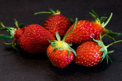 A circle of strawberries Royalty Free Stock Images