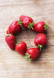 Circle of strawberries Stock Photography