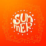 Circle Summer lettering background Stock Photography