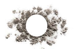 Circle and sun burst shape illustration made in ash. Circle and sun burst shape illustration made in grey ash Royalty Free Stock Photos